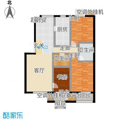 远洋自然146.16㎡7号楼C2反b户型三室二厅二卫户型