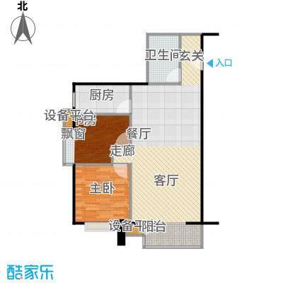 远中悦麒会馆101.24㎡A3户型二居室户型