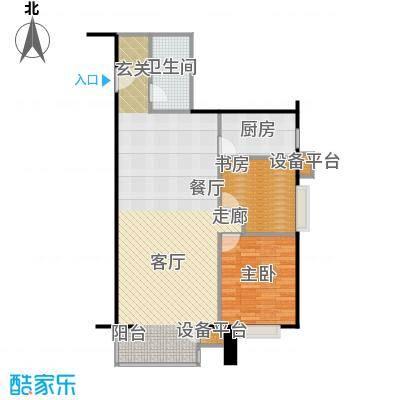 远中悦麒会馆101.24㎡B户型二居室户型