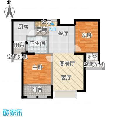 威尔夏大道106.32㎡7号楼A17户型二居室户型