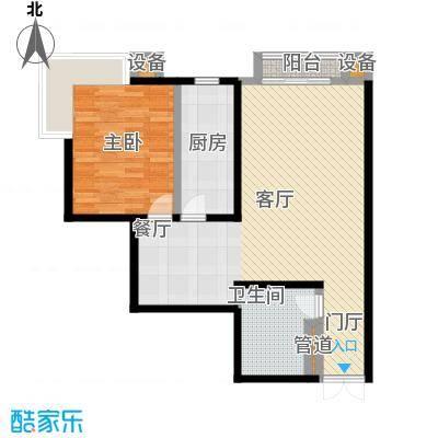 未来上层(恋日上层)81.99㎡一室两厅一卫户型