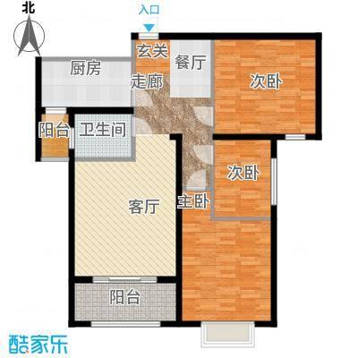 丛台花园三室两厅一卫 101.74平米户型
