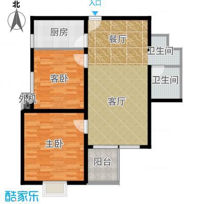 京品71.08㎡103#B1-B4两室一厅一厨一卫户型