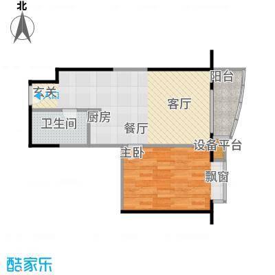 远中悦麒会馆61.09㎡B户型一居室户型