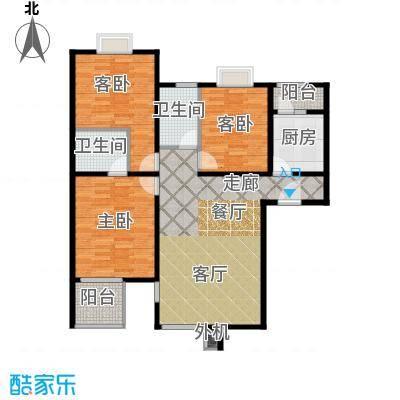 京品102.55㎡103#A2-A5三室两厅一厨两卫户型