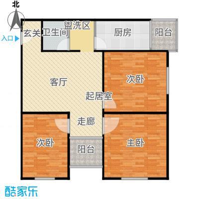 望园东里99.01㎡三居室户型