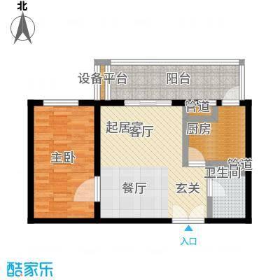 东丽温泉家园63.00㎡一居室户型