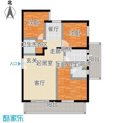 东丽温泉家园140.00㎡三居室户型