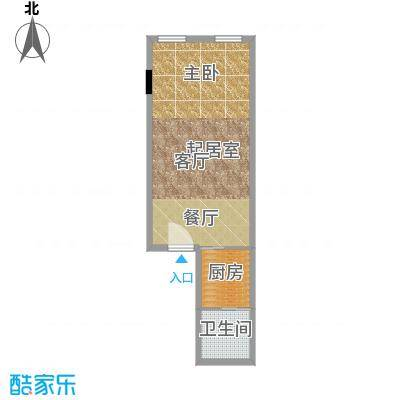 CUV国际公寓55.54㎡L户型10室