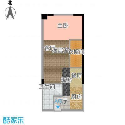 CUV国际公寓79.51㎡D户型10室