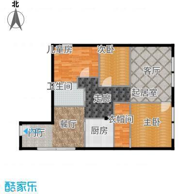 CUV国际公寓120.76㎡A1户型10室