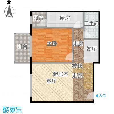 晶城秀府72.61㎡跃层A4下层户型10室