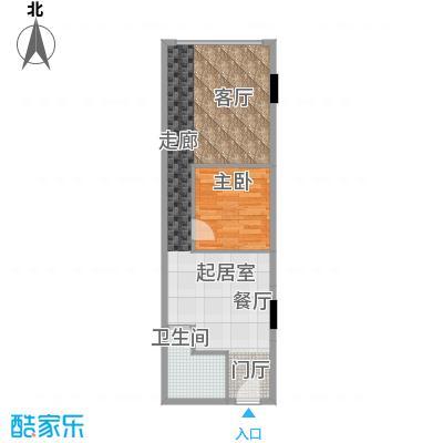 CUV国际公寓71.83㎡K户型10室