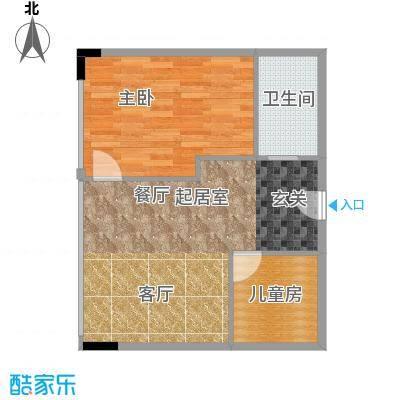 CUV国际公寓73.87㎡B户型10室