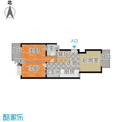 天创公馆112.38㎡A-5a户型二室二厅二卫户型