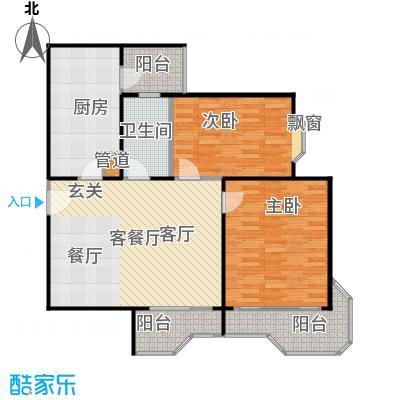 瑞南新苑102.06㎡房型: 二房; 面积段: 102.06 -114.24 平方米;户型