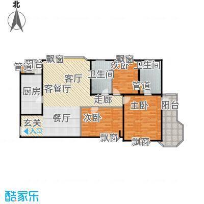 瑞南新苑143.30㎡房型: 三房; 面积段: 143.3 -143.3 平方米;户型