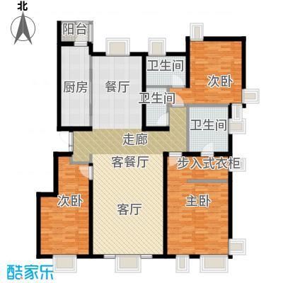 茂华�都会145.17㎡3b三居户型10室