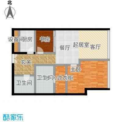 C-PARK西派国际公寓141.06㎡4号楼D户型二室二厅二卫户型