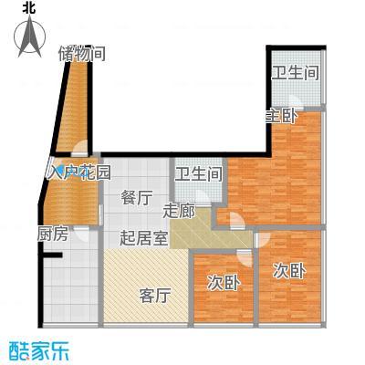 C-PARK西派国际公寓2号楼D户型三室两厅两卫200.11户型