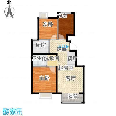 中国铁建・原香漫谷88.00㎡C3-1户型3室1卫1厨