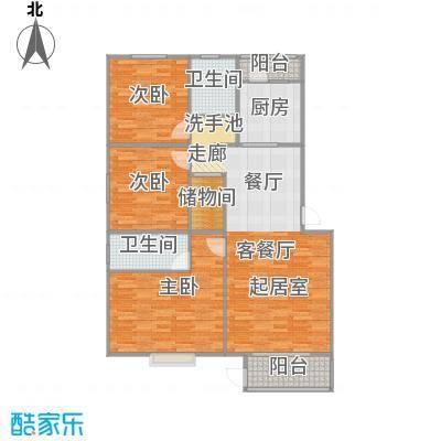 千禧家园131.59㎡E户型10室