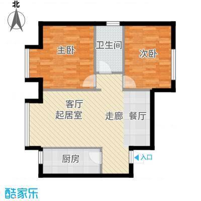 首创・芭蕾雨悦都N°581.00㎡B5户型2室2厅1卫