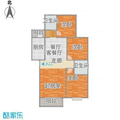 千禧家园130.39㎡C户型10室