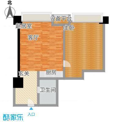博雅国际中心83.88㎡D户型一室一厅一卫户型