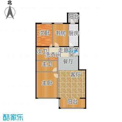方庄6号2号楼G户型三室二厅二卫户型