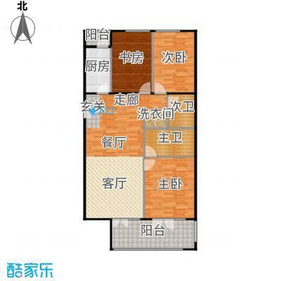 方庄6号2号楼H户型三室二厅二卫户型