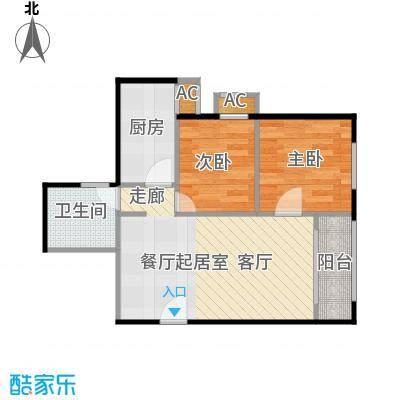 圣淘沙83.07㎡5号楼I户型二室二厅一卫户型