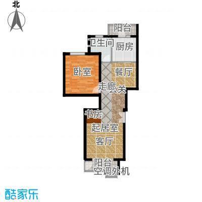 天鸿美域83.00㎡一室二厅一卫G1户型(二期)户型