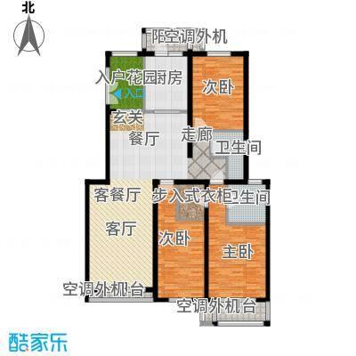 天鸿美域154.40㎡三室二厅二卫f3户型(二期)户型
