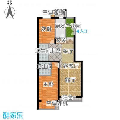 天鸿美域115.20㎡二室二厅二卫F2(二期)户型
