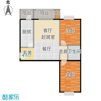 圣淘沙112.32㎡4号楼H户型二室二厅一卫户型