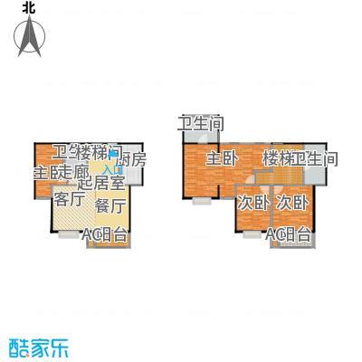 圣淘沙221.63㎡4号楼J户型跃层户型