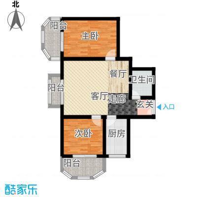 天润东方绿城两室一厅一卫户型