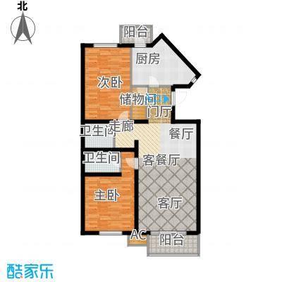 天娇美地115.00㎡2-5层2室2厅2卫户型