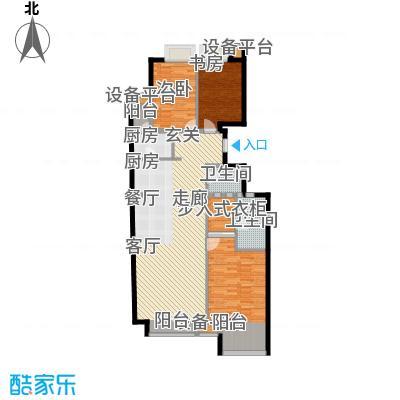 府上嘉园L1三室两厅两卫户型