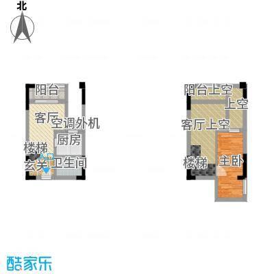 同景跃城户型1室1厅1卫1厨