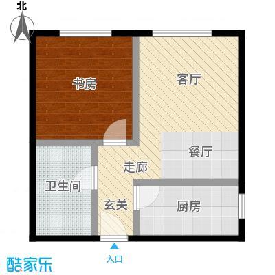 西现代城47.59㎡一室一厅一卫户型LL