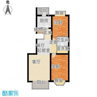 宏鑫家园96.02㎡二室二厅一卫户型