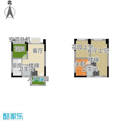 同景跃城户型1室1厅2卫1厨