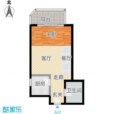 西现代城48.91㎡一室一厅户型LL