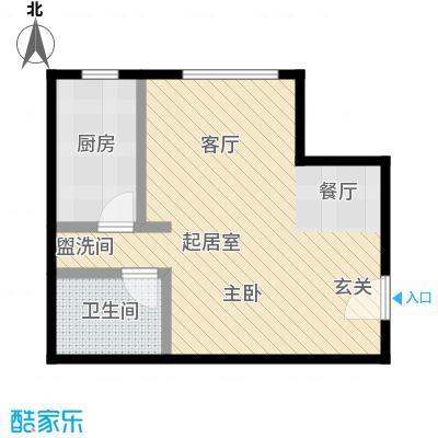西现代城41.43㎡一室一厅户型LL