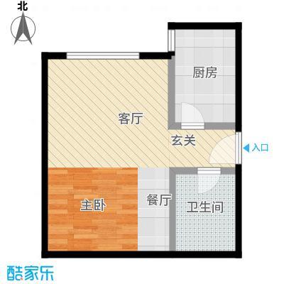 西现代城43.31㎡一室一厅户型LL