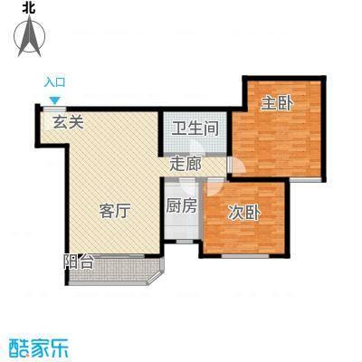 西现代城95.52㎡两室一厅一卫户型LL