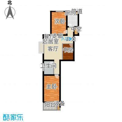 光华苑二期98.39㎡两室两厅两卫户型