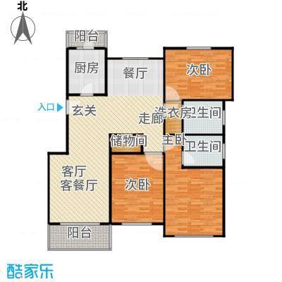 中星雪野家园110.42㎡房型: 三房; 面积段: 110.42 -141.37 平方米; 户型